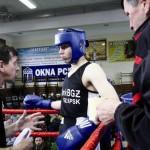 Jakub Walczuk na ringu z tatą-trenerem